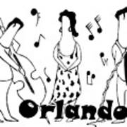 Orlando Jazz Art Print
