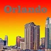 Orlando Skyline Art Print