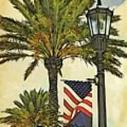 Ormond Beach Patriotic Art Print