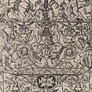 Ornament Panel: Mars, God Of Battles Art Print