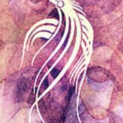 Ornamental Abstract Bird Minimalism Art Print