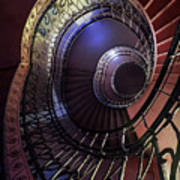 Ornamented Metal Spiral Staircase Art Print