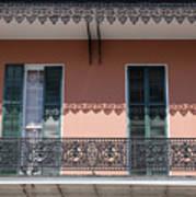 Ornate Balcony In New Orleans Art Print