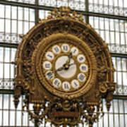 Ornate Orsay Clock Art Print