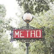 Ornate Paris Metro Sign Metal Print by Ivy Ho