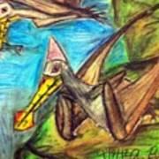 Ornithocheirus By The Sea Art Print