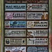 Orpheum Theater Playbill Art Print