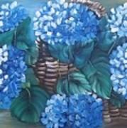 Ortencias Azules 2 Art Print