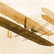 Orville Wright In Wright Flyer 1908 Art Print