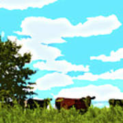 Osage County Cows Art Print