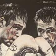 Oscar De La Hoya Vs Manny Pacquiao Art Print