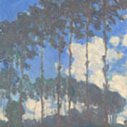 Oscar Monet   Poplars On The Epte Art Print