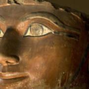 Osiris Statue Face Of Hatshepsut Art Print