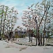 Oslo In Winter Art Print