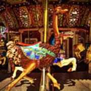 Ostrich Carousel Ride Art Print
