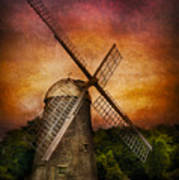 Other - Windmill Art Print by Mike Savad