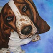 Otis The Basset Hound Art Print