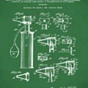 Otoscope Patent 1927 Green Art Print