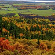 Ottawa River Valley In Fall At Tawadina Lookout At End Of Blanch Art Print