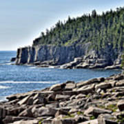 Otter Cliffs In Acadia National Park - Maine Art Print