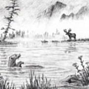 Otter Fog Art Print