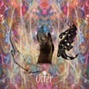 Otter Moon Art Print