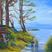 Otter Rock Marine Garden Path Art Print