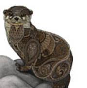 Otter Tangle Art Print