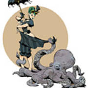 Otto By The Sea Art Print by Brian Kesinger