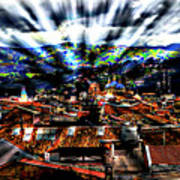 Our City In The Andes Art Print