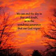 Our God Reigns Art Print
