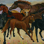 Our Horses Art Print