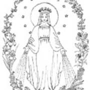 Our Lady Of Grace Art Print