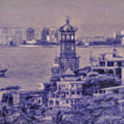Our Lady Of Guadalope In Puerto Vallerta Mexico. Banderas Bay. Art Print