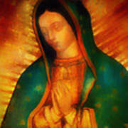 Our Lady Of Guadalupe Print by Bill Cannon