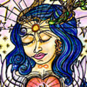 Our Lady Of Self Blessing Art Print