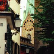 Our Ladys Minster Church In Zurich Switzerland Art Print