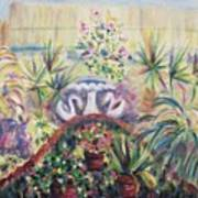 Our Private Yard Art Print by Suzanne  Marie Leclair