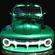 Out Of The Shadows - 51 F100 Ford  Art Print