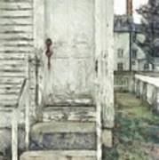 Out The Back Door Pencil Art Print
