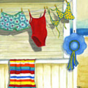 Out To Dry Art Print by Debbie Brown