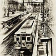Outbound Train Art Print