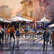Outdoor Market - Rome Art Print