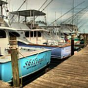 Outer Banks Fishing Boats Waiting Art Print