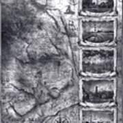 Outer Banks Lighthouse Map 1 Art Print