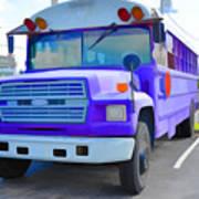 Outer Banks University Bus 1 Art Print