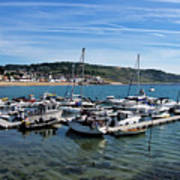 Outer Harbour - Lyme Regis Art Print