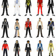 Outfits of Michael Jackson Art Print