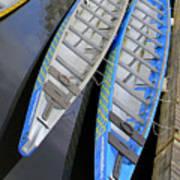 Outrigger Canoe Boats Art Print
