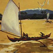 Outrigger Off Shore Art Print